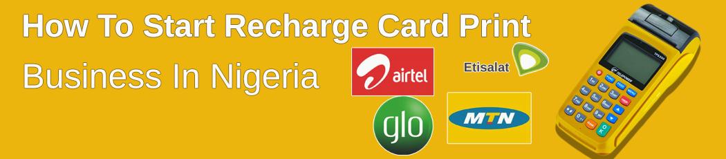 recharge card printing